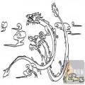 龙-白描图-飞龙在天-long4-白描龙图