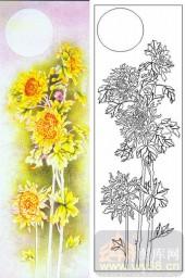 04肌理雕刻系列样图-向日葵-00186-喷砂玻璃