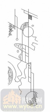 装饰玻璃-06四扇门(2)-抽象图案-00065