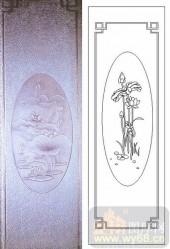 05肌理雕刻系列样图-荷花荷叶-00036-喷砂玻璃