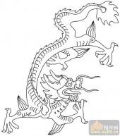 龙-白描图-矫若惊龙-long150-龙白描