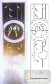 喷砂玻璃-浮雕贴片-成双成对-00089