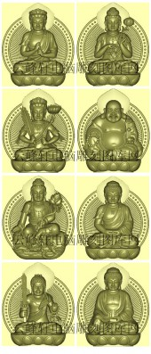 八大守护神-雕刻图案