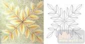雕刻玻璃-肌理雕刻系列1-黄叶-00130