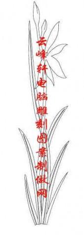 梅兰竹菊-白描图-兰花-mlxj038-梅兰竹菊雕刻图片