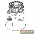 门狮子-矢量图-吉祥门狮8-路径门狮图片