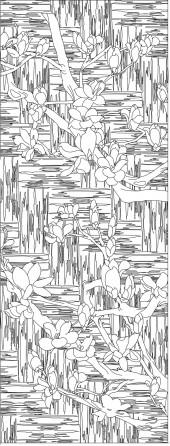竖板19,玉兰花