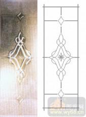 艺术玻璃图库-浮雕贴片-花纹-00041