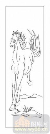03动物系列-奔马-00084-雕刻玻璃