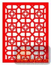中式镂空装饰001-朵朵生花-中式镂空装饰001-006-玄关隔断