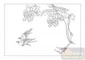 04花草禽鸟-成双成对-00083-玻璃雕刻
