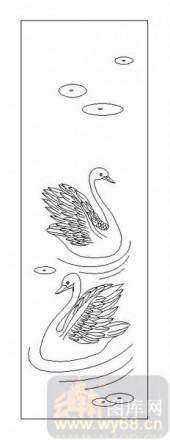 03动物系列-天鹅湖-00078-雕刻玻璃