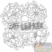 100个中国传统吉祥图-矢量图-牡丹元宝-B-098-吉祥图案