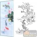 22传统花鸟鱼(1)-鲤鱼-00026-艺术玻璃图