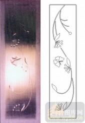 艺术玻璃图库-浮雕贴片-蝶恋花-00001