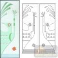 01装饰门-1-孔雀-00017-艺术玻璃