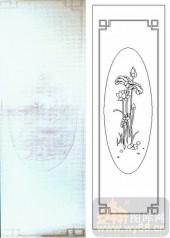 05肌理雕刻系列样图-荷花荷叶-00062-艺术玻璃图库