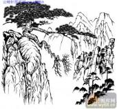 2010.4.3迎客松-白描图-仙山古松-yks027-迎客松白描图