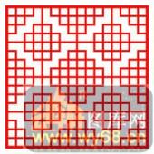 镂空装饰单式002-方格花纹-镂空装饰单式002-010-镂空雕刻模板下载