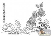 凤-白描图-凤行舞姿-huangf037-凤线描图