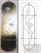 装饰玻璃-浮雕贴片-花卉-00033