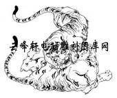 虎1-矢量图-为虎添翼-30-虎雕刻图片