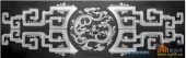古董架001-二龙戏珠-027-古董架灰度图案