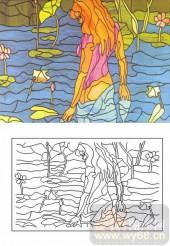 06欧式装饰系列样图-抽象人物-00014-艺术玻璃图库