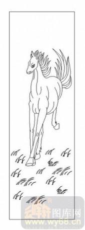 03动物系列-高头大马-00090-艺术玻璃图库