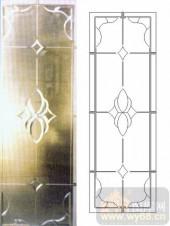 艺术玻璃图库-浮雕贴片-花纹-00043