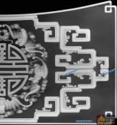 古董架001-祥瑞-008-古董架雕刻灰度图