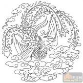 凤-矢量图-祥麟威凤-huangf041-国画凤图案