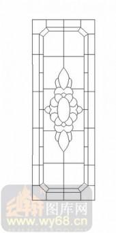 雕刻玻璃-12镶嵌-几何花纹-00060
