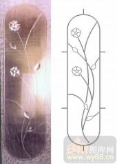 艺术玻璃图库-浮雕贴片-花纹-00016