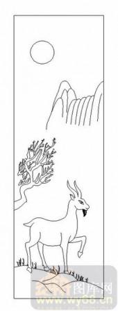03动物系列-寻-00069-喷砂玻璃