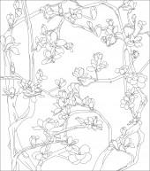 方板4 玉兰花