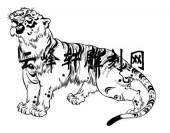 虎2-矢量图-虎啸-74-虎路径图