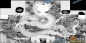 03-蟠龙-019-雕刻灰度图