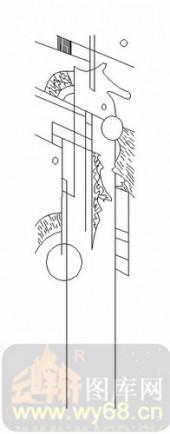 装饰玻璃-06四扇门(2)-抽象图案-00064