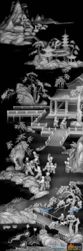 百子图002-扇面童子-扇1_2-百子图浮雕图库