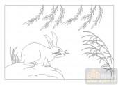 03动物系列-兔子-00008-喷砂玻璃