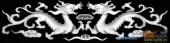 草龙-双龙-098-龙凤灰度图