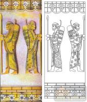 04肌理雕刻系列样图-异域人像-00231-装饰玻璃