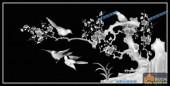 03-梅花-014-花鸟灰度图案