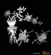 四季花1-花枝-001-四季花浮雕图库
