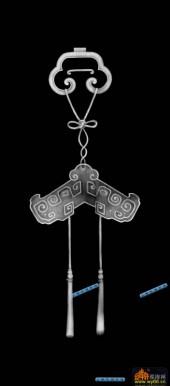 鱼图-传统花纹-009-蝙蝠鱼灰度图案