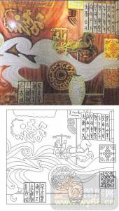 艺术玻璃-肌理雕刻系列1-古马车-00095