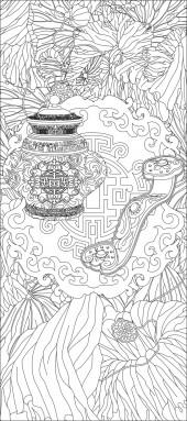 竖板71,花瓶