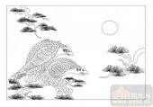 01传统系列-鹰拿雁捉-00036-艺术玻璃图库