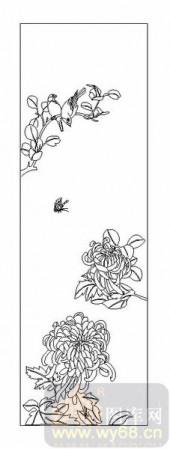 04花草禽鸟-菊花-00042-艺术玻璃
